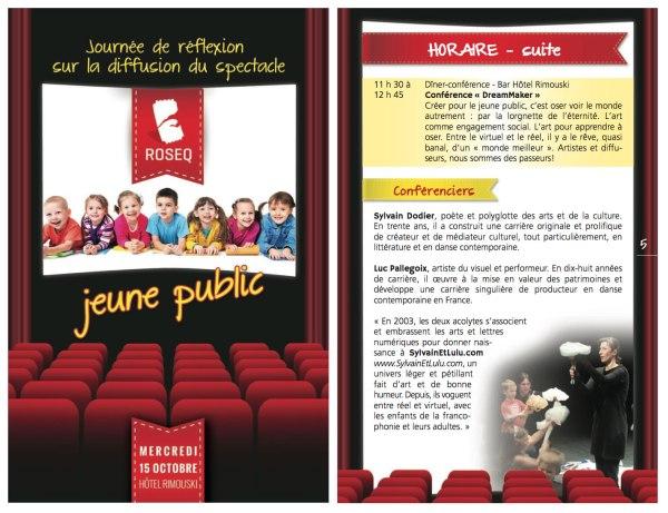 ROSEQ 2014 23e édition de la Rencontre d'automne - journée de réflexion sur la diffusion du spectacle jeune public