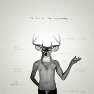 Le Cerf Ectomorphe #3 / Luc Pallegoix, 2013. Encre pigmentaire sur papier Moab blanc 300 gr. Disponible en grand format |50 x 50 cm 5 ex.| ou moyen format | 23 x 23 cm 10 ex. | ou petit format | 12,5 x 12,5 cm 15 ex. |