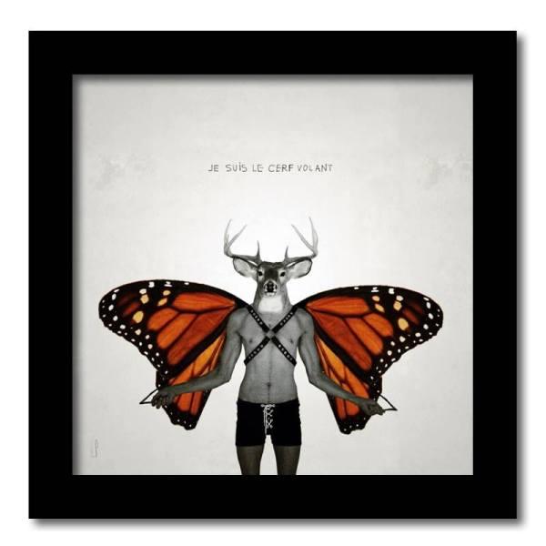 [ VENDU moyen format 1/10 ] Le cerf volant #2 / Luc Pallegoix, 2013. Encre pigmentaire sur papier Moab blanc 300 gr. Disponible en grand format |50 x 50 cm 5 ex.| ou moyen format | 23 x 23 cm 10 ex. | ou petit format | 12,5 x 12,5 cm 15 ex. |
