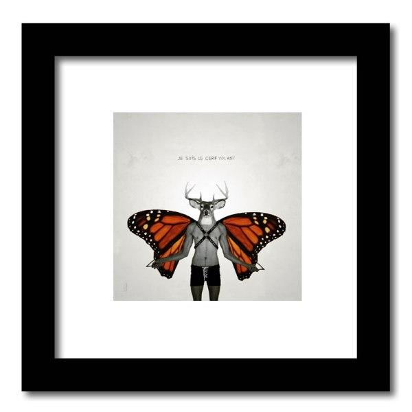 [ VENDU petit format 2/15 ] Le cerf volant #2 / Luc Pallegoix, 2013. Encre pigmentaire sur papier Moab blanc 300 gr. Disponible en grand format |50 x 50 cm 5 ex.| ou moyen format | 23 x 23 cm 10 ex. | ou petit format | 12,5 x 12,5 cm 15 ex. |