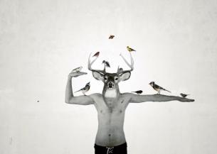 L'oiseleur déployé / Luc Pallegoix, 2014. Encre pigmentaire sur papier Moab blanc 300 gr. Disponible en grand format |50 x 70 cm 5 ex.|