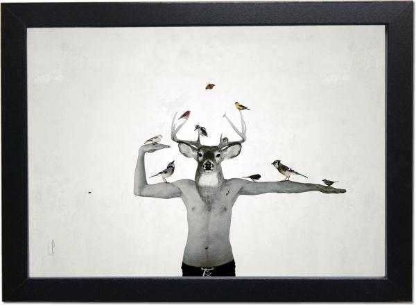 [ VENDU moyen format 1/10 ] L'oiseleur déployé / Luc Pallegoix, 2013. Encre pigmentaire sur papier Moab blanc 300 gr. Disponible en grand format |50 x 50 cm 5 ex.| ou moyen format | 23 x 23 cm 10 ex. | ou petit format | 12,5 x 12,5 cm 15 ex. |