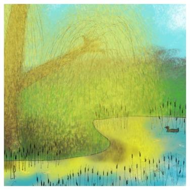 Un arbre – Strophe 11 / Luc Pallegoix, 2014. Tirage d'art, encre pigmentaire sur papier Moab blanc 300 gr. Disponible en moyen format   23 x 23 cm 10 ex.  