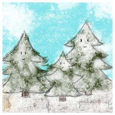 Un arbre – Strophe 1 / Luc Pallegoix, 2014. Tirage d'art, encre pigmentaire sur papier Moab blanc 300 gr. Disponible en moyen format   23 x 23 cm 10 ex.  