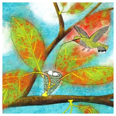 Un arbre – Strophe 7 / Luc Pallegoix, 2014. Tirage d'art, encre pigmentaire sur papier Moab blanc 300 gr. Disponible en moyen format   23 x 23 cm 10 ex.  