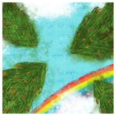 Un arbre – Strophe 8 / Luc Pallegoix, 2014. Tirage d'art, encre pigmentaire sur papier Moab blanc 300 gr. Disponible en moyen format   23 x 23 cm 10 ex.  