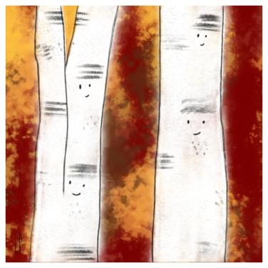 Un arbre – Strophe 9 / Luc Pallegoix, 2014. Tirage d'art, encre pigmentaire sur papier Moab blanc 300 gr. Disponible en moyen format   23 x 23 cm 10 ex.  