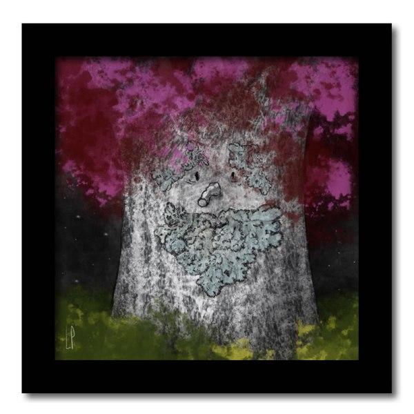 [ VENDU moyen format 1/10 ] Un arbre – Strophe 6 / Luc Pallegoix, 2014. Tirage d'art, encre pigmentaire sur papier Moab blanc 300 gr. Disponible en moyen format | 23 x 23 cm 10 ex. |