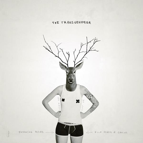 THE TRANSGENDEER #3 / Luc Pallegoix, 2014. Encre pigmentaire sur papier Moab blanc 300 gr. Disponible en grand format |50 x 50 cm 5 ex.| ou moyen format | 23 x 23 cm 10 ex. |