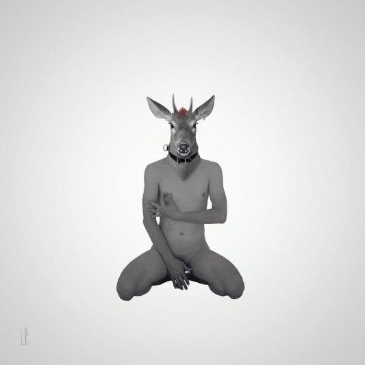 La présentation du faon / Luc Pallegoix, 2015. Encre pigmentaire sur papier Moab blanc 300 gr. Disponible en grand format |50 x 50 cm 5 ex.| ou moyen format | 23 x 23 cm 10 ex. |