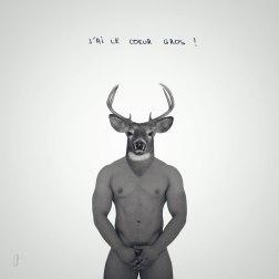 Le cerf fort / Luc Pallegoix, 2015. Encre pigmentaire sur papier Moab blanc 300 gr. Disponible en grand format |50 x 50 cm 5 ex.| ou moyen format | 23 x 23 cm 10 ex. |