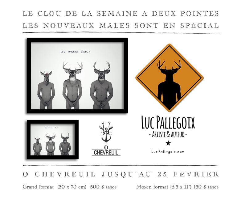 Les nouveaux mâles #2 / Luc Pallegoix, 2015. Encre pigmentaire sur papier Moab blanc 300 gr. Disponible en grand format |50 x 70 cm 5 ex.| ou moyen format | 8,5 x 11 ou A4 10 ex. |