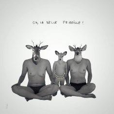 La belle femmille #2 / Luc Pallegoix, 2016. Encre pigmentaire sur papier Moab blanc 300 gr. Disponible en grand format |50 x 50 cm 5 ex.| ou moyen format | 23 x 23 cm 10 ex. |