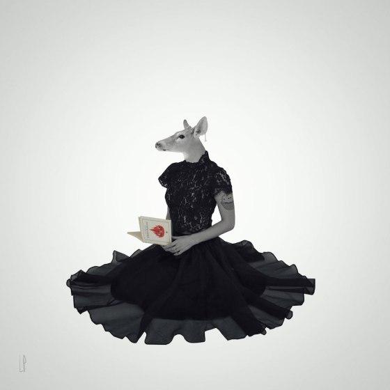 La biche pensive / Luc Pallegoix, 2016. Encre pigmentaire sur papier Moab blanc 300 gr. Disponible en grand format | 50 x 50 cm 5 ex.| ou moyen format | 23 x 23 cm 10 ex. | Trois autres numéros sont réservés pour des très grands formats.