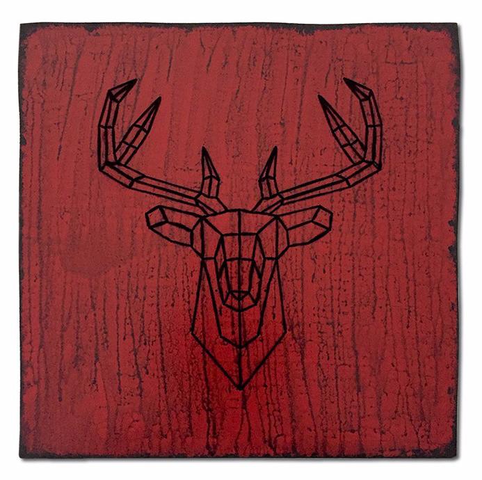 Le cerf vidé #1 ! / Luc Pallegoix, 2017. Série : Planches brodées - Embroidered board Acrylique sur bois brodé au Phentex, 60 x 60 cm. 💵 450 $ + taxes Jusqu'au 31 décembre 2017. 🌍 Catalogue : https://lucpallegoix.com/planches-brodees/ 📬 Contact : lucpallegoix.com/hello/ 📷 Instagram : instagram.com/lucpallegoix/ 🏛 Atelier : atelierauckland.com