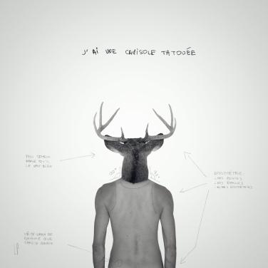 La camisole tatouée #3 / Luc Pallegoix, 2013. Encre pigmentaire sur papier Moab blanc 300 gr. Disponible en grand format |50 x 50 cm 5 ex.| ou moyen format | 23 x 23 cm 10 ex. |. Trois autres numéros sont réservés pour des très grands formats.