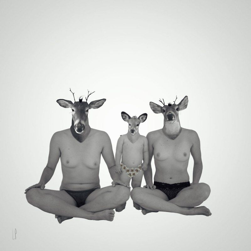 La belle femmille / Luc Pallegoix, 2016. Encre pigmentaire sur papier Moab blanc 300 gr. Disponible en grand format   50 x 50 cm 5 ex.  ou moyen format   23 x 23 cm 10 ex.   Trois autres numéros sont réservés pour des très grands formats.