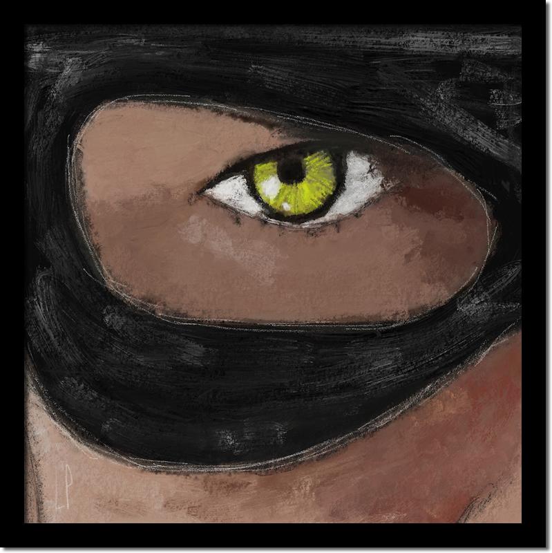 I see you / Luc Pallegoix, 2016. Peinture numérique puis encre pigmentaire sur papier Moab blanc 300 gr. [50 X 50 cm]