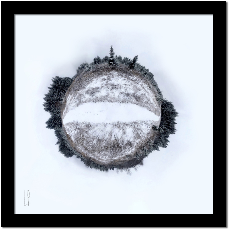 Sans titre / Luc Pallegoix, 2018. Encre pigmentaire sur papier Moab blanc 300 gr. [50 x 50 cm] 5 ex.| 500 $ + taxes, [ 23 x 23 cm] 10 ex. 150 $ + taxes