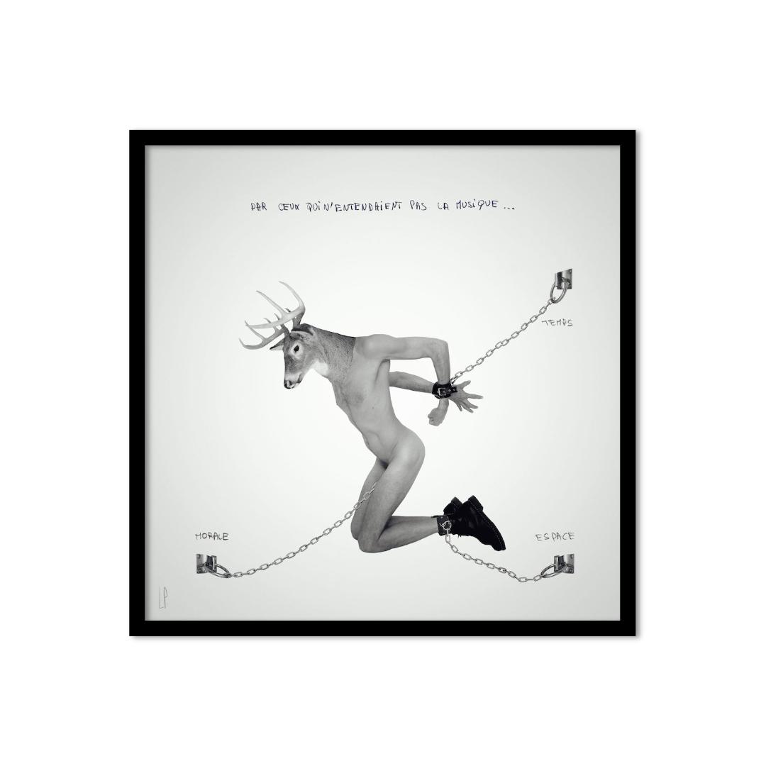 Senestre ou la pensée déviante #3 / Luc Pallegoix, 2017. Encre pigmentaire sur papier Moab blanc 300 gr. Disponible en grand format |50 x 50 cm 5 ex.| ou moyen format | 23 x 23 cm 10 ex.Trois autres numéros sont réservés pour des très grands formats.