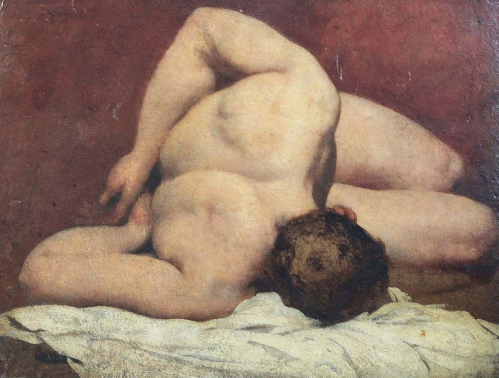 Study of a reclining nude man / William Etty.